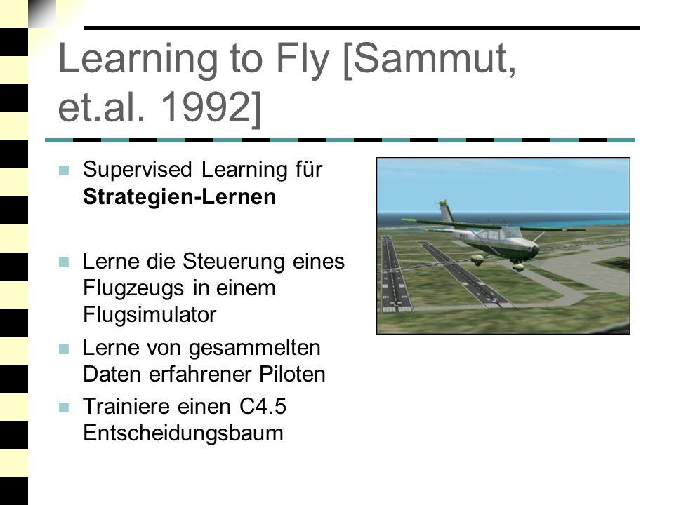 Learning to Fly [Sammut, et.al. 1992]